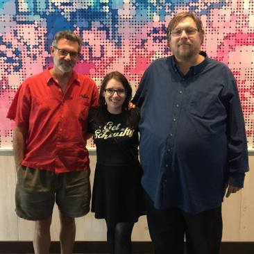 Warren Davis, co-creator of Q*bert, and John Newcomer, co-creator of Joust.